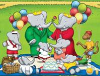 Babar The Elephant Cartoon Logo Image
